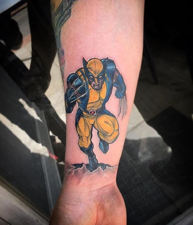 Arm Wolverine Tattoo