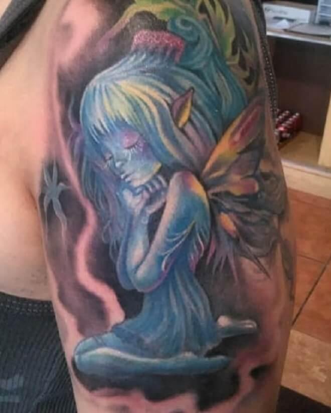 Awesome Fairy Tattoo