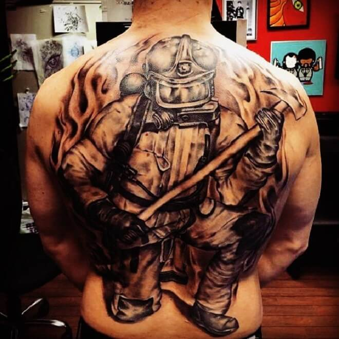 Awesome Firefighter Tattoo