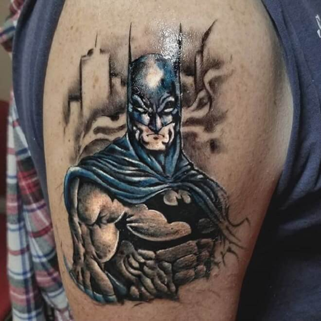 Awesome Superhero Tattoo