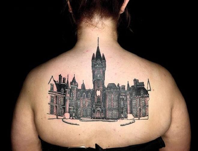 Back Castle Tattoo