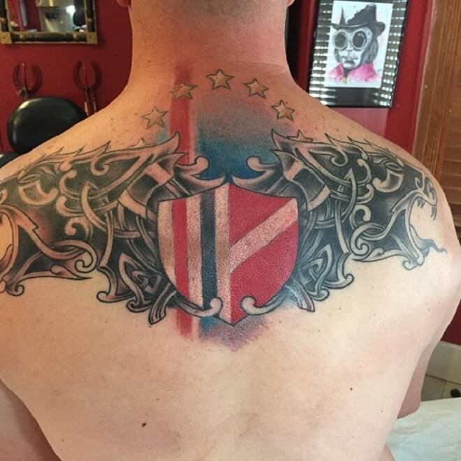 Back Firefighter Tattoo