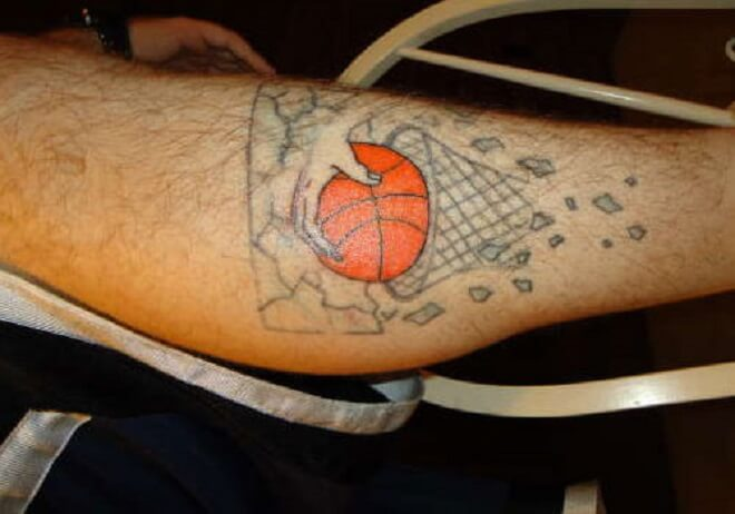 Basketball Goal Tattoo