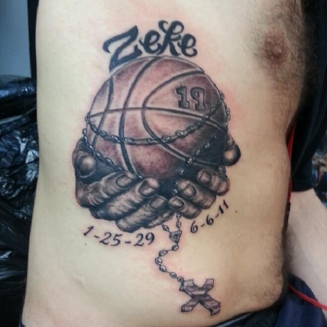 Basketball Tattoo for Men