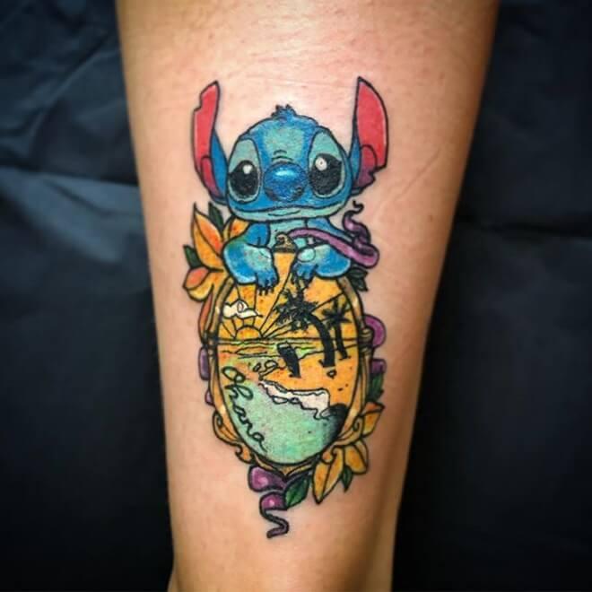 Beautiful Lilo and Stitch Tattoo