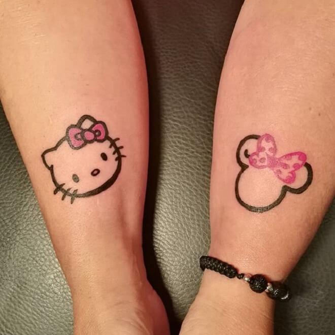 Beautiful Minnie Mouse Tattoo