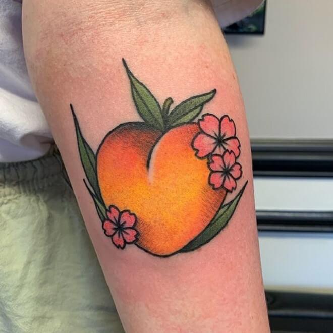 Beautiful Peach Tattoo