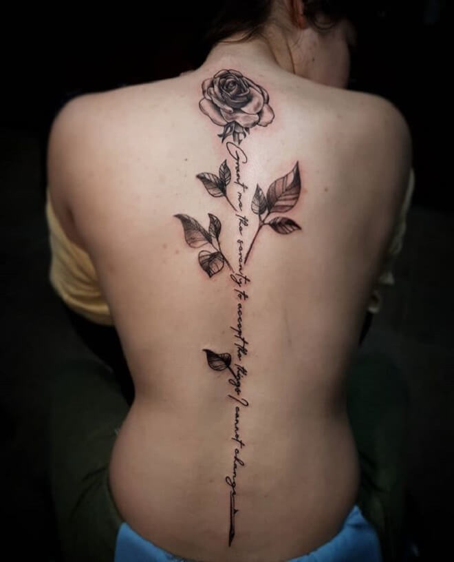 Beautiful Serenity Prayer Tattoo