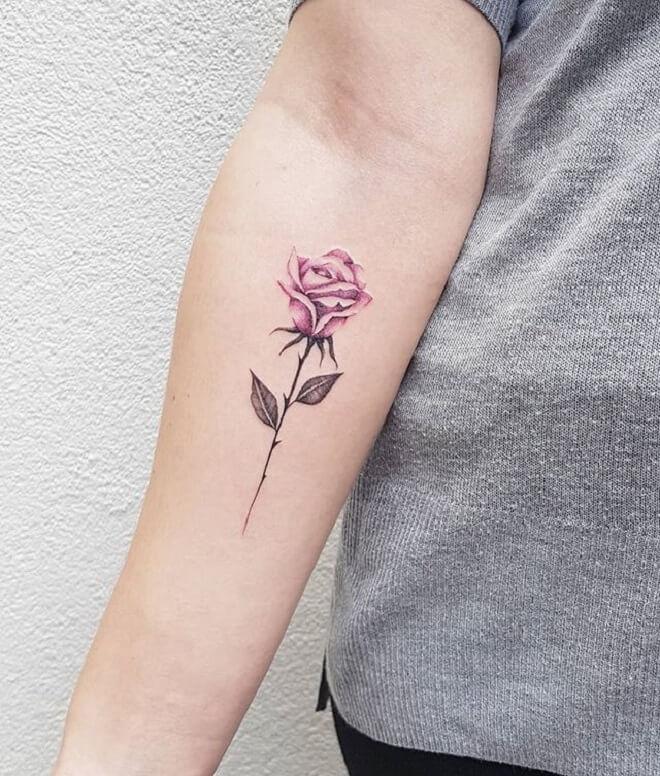 Beautiful Small Flower Tattoo
