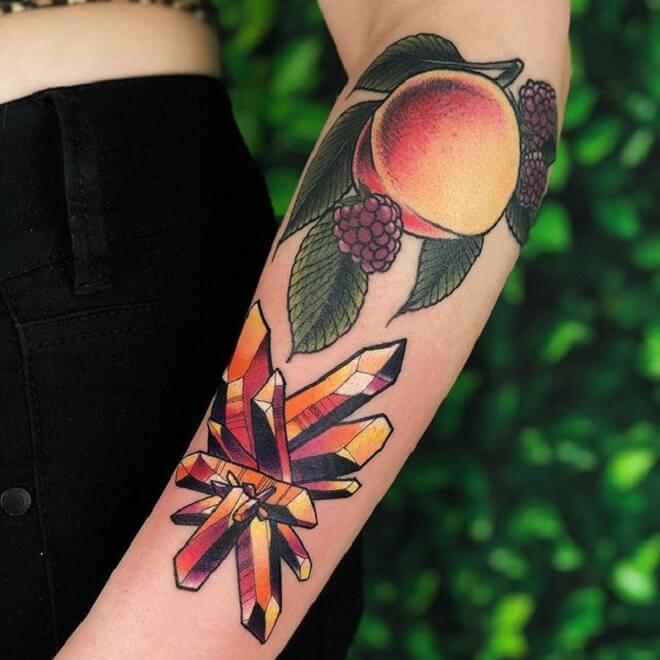 Beeink Peach Tattoo