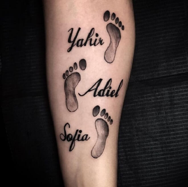 Best Footprint Tattoo