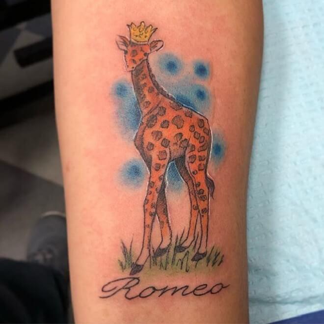 Best Giraffe Tattoo