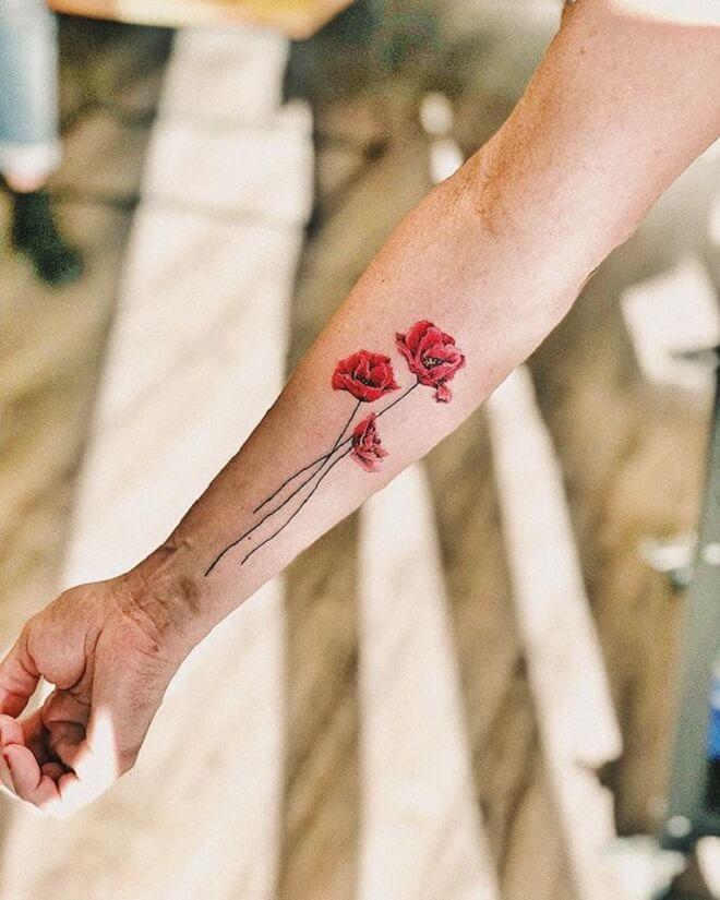 Best Poppy Tattoo