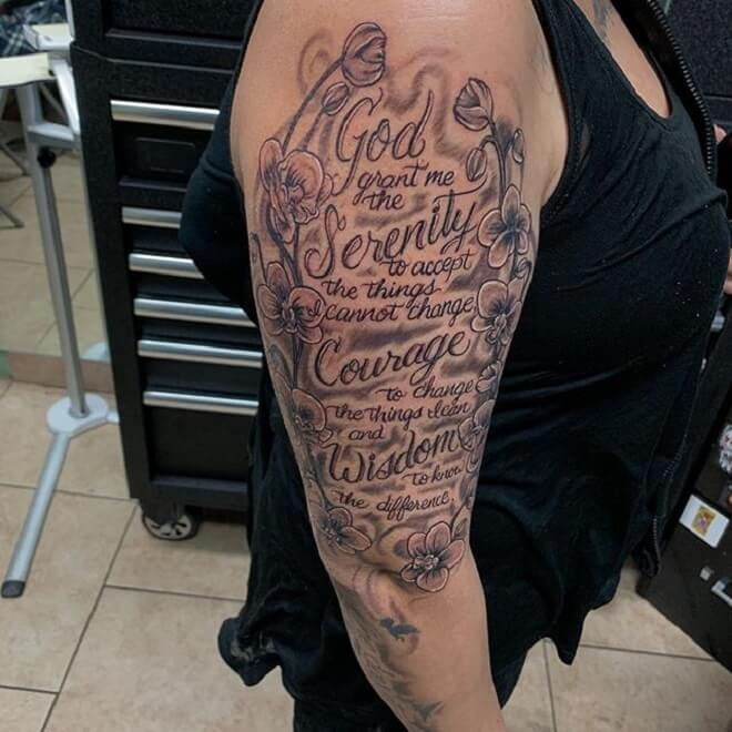 Best Serenity Prayer Tattoo