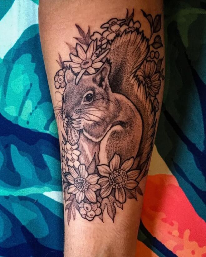 Best Squirrel Tattoo