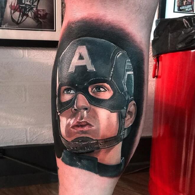 Black Captain America Tattoo
