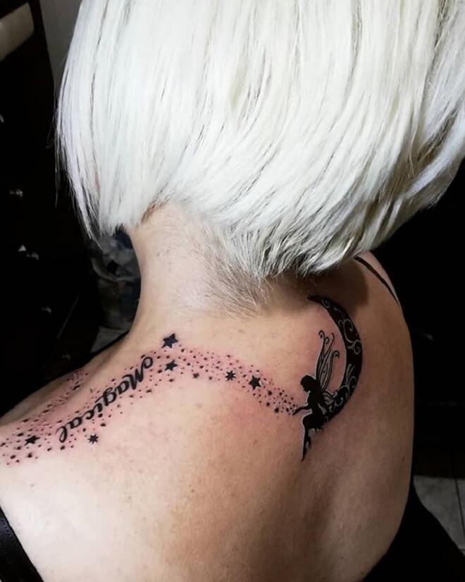 Black Fairy Tattoo