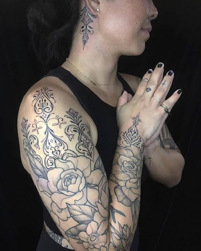 Black Filigree Tattoo