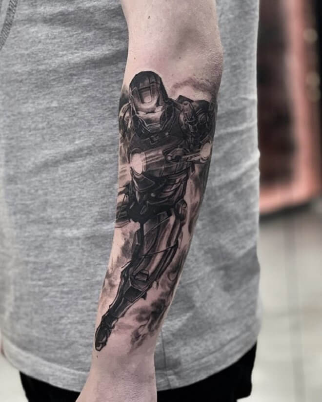 Black Ironman Tattoo