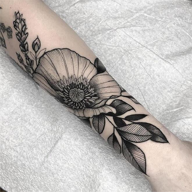 Black Poppy Tattoo