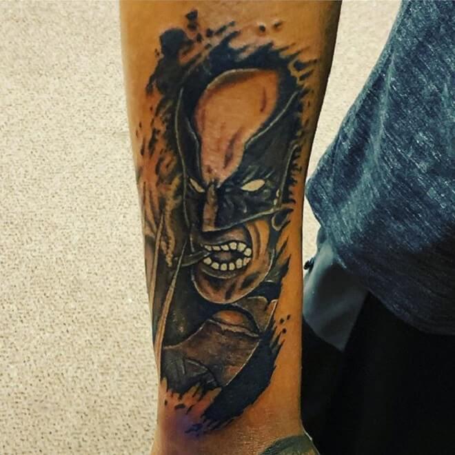 Black Wolverine Tattoo