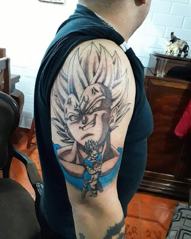 Body Vegeta Tattoo