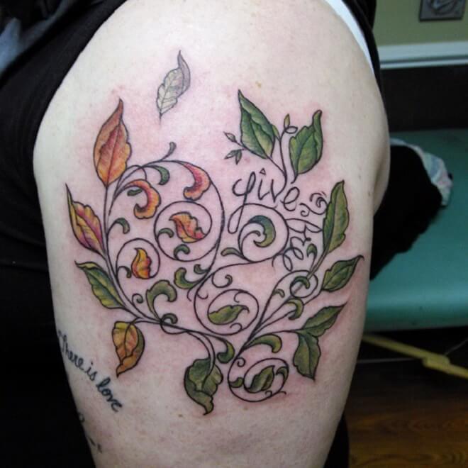 Body Vine Tattoo