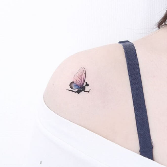 Butterfly Tinkerbell Tattoo