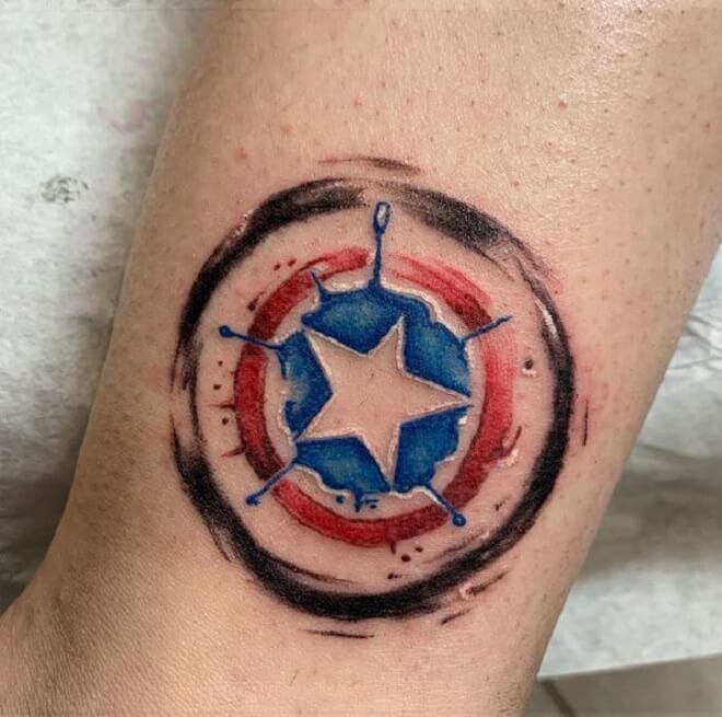 Captain America Tattoo Artist