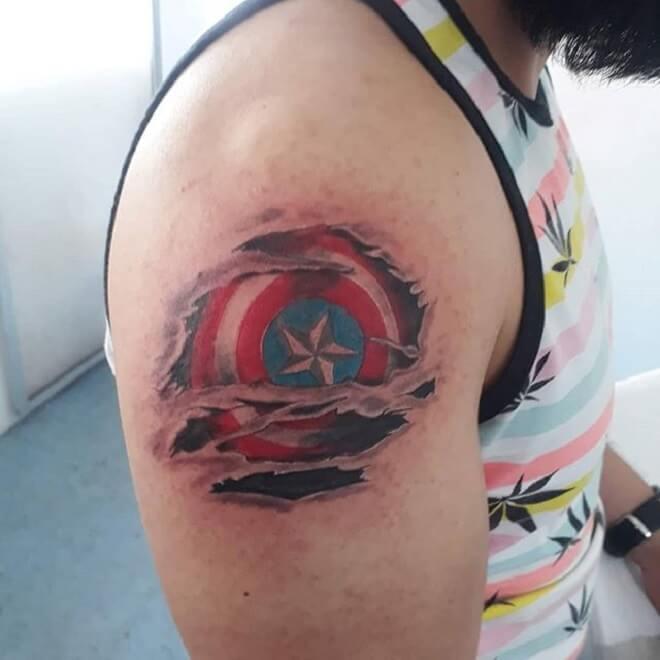 Captain America Tattoo for Men