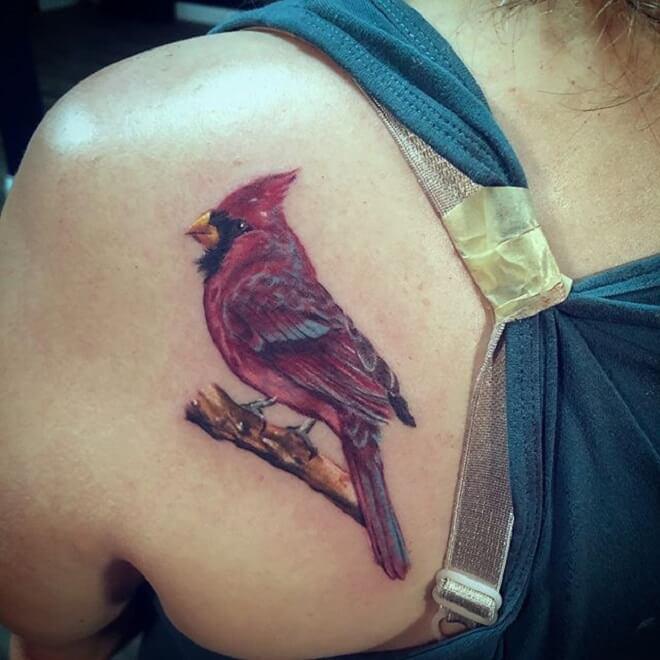 Cardinal Female Tattoo