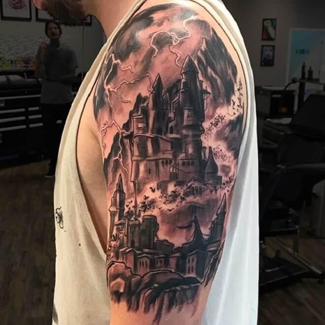Castle Tattoo for Men