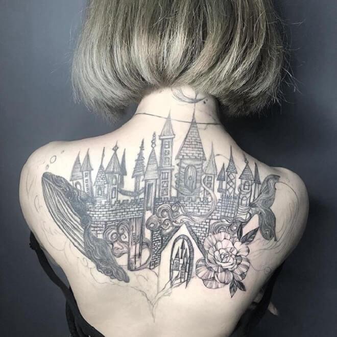 Castle Tattoo for Women