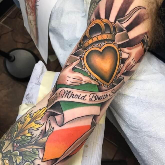 Claddagh Traditional Tattoo