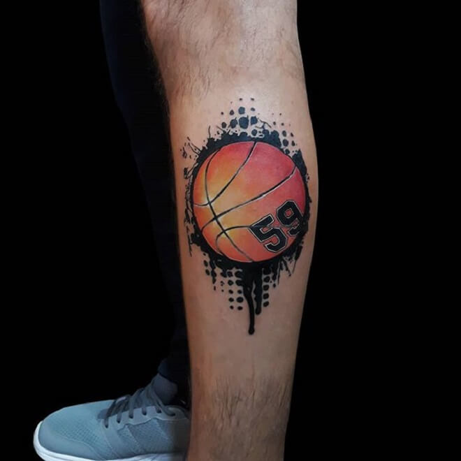 Color Basketball Tattoo