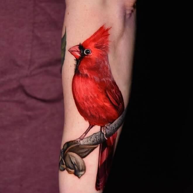 Color Cardinal Tattoo