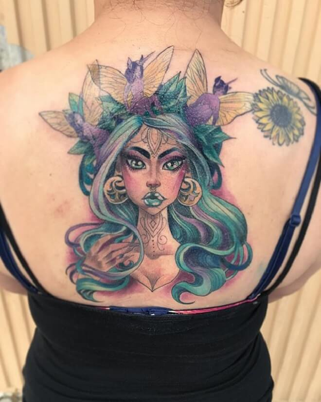 Color Fairy Tattoo
