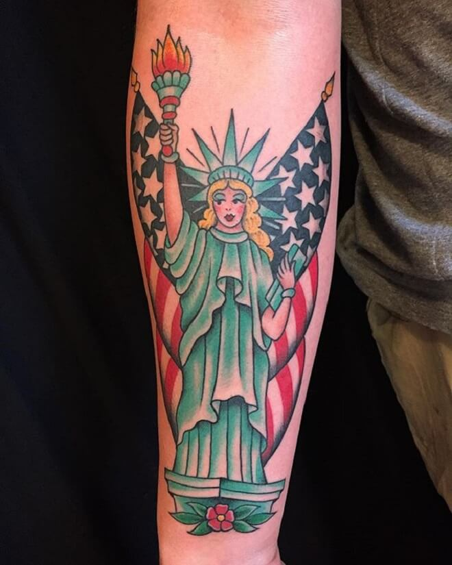 Color Patriotic Tattoo