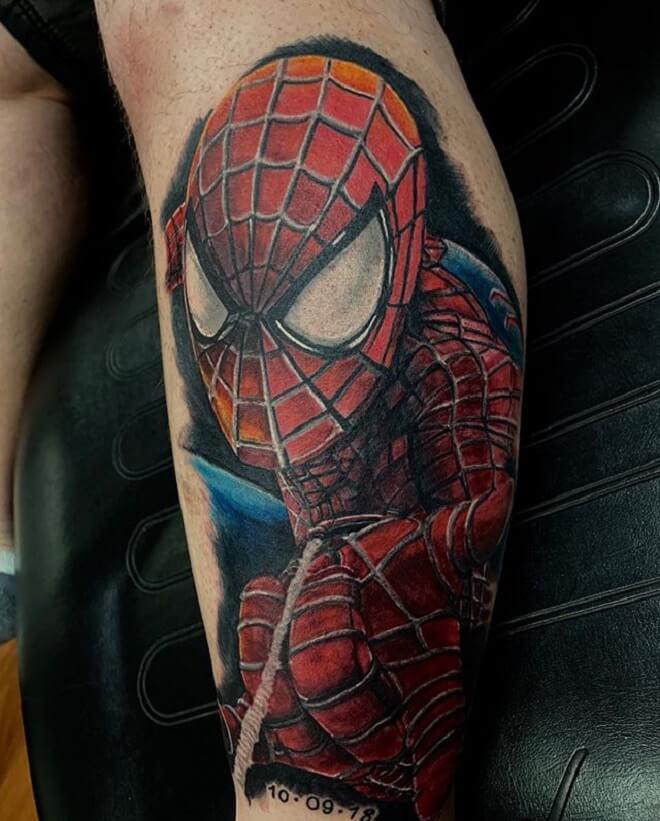 Color Superhero Tattoo