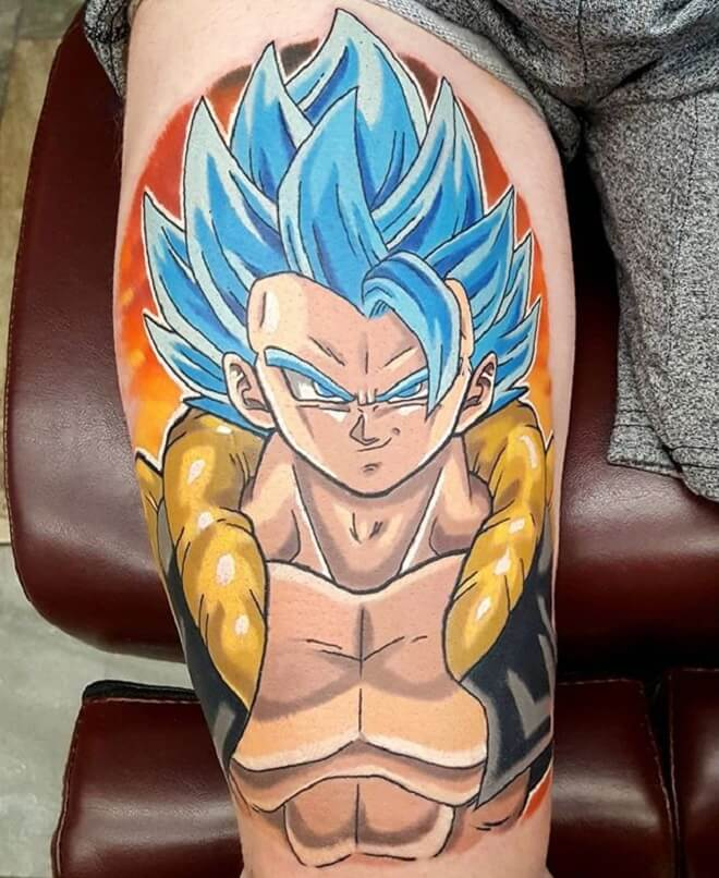 Color Vegeta Tattoo