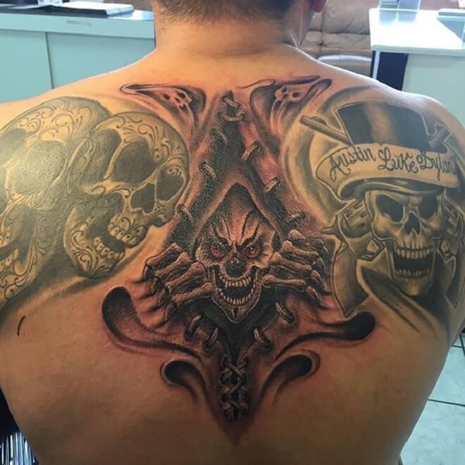 Dangerous Upper Back Tattoo