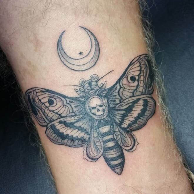 Death Moth Men Tattoo