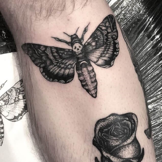 Death Moth Tattoo Style