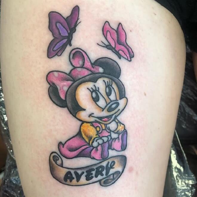 Disney Minnie Mouse Tattoo