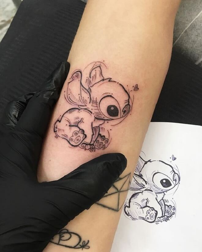 Disney Stitch Tattoo