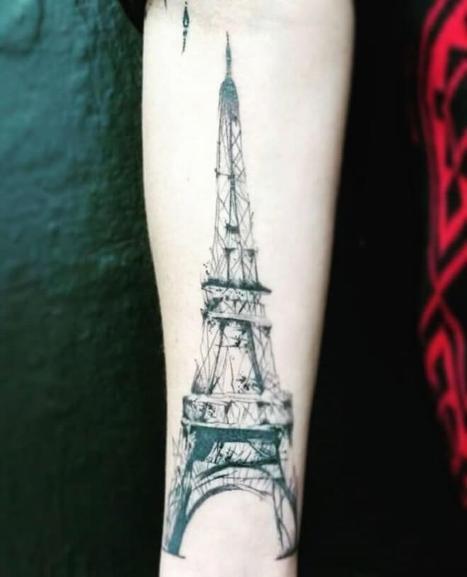 Eiffel Tower Tattoo Artist