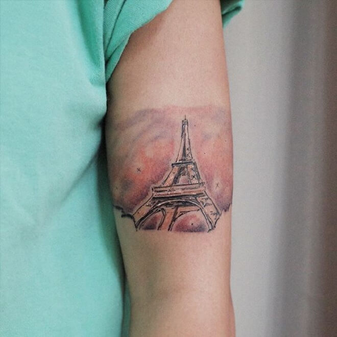 Eiffel Tower Tattoo for Women