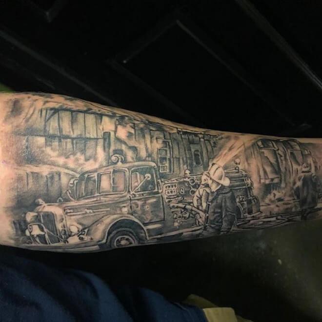 Firefighter Tattoo Art