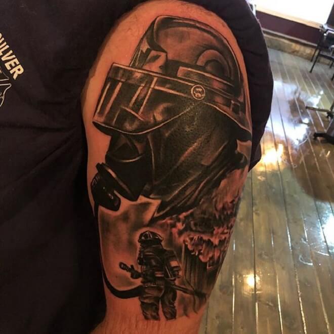 Firefighter Tattoo Artist