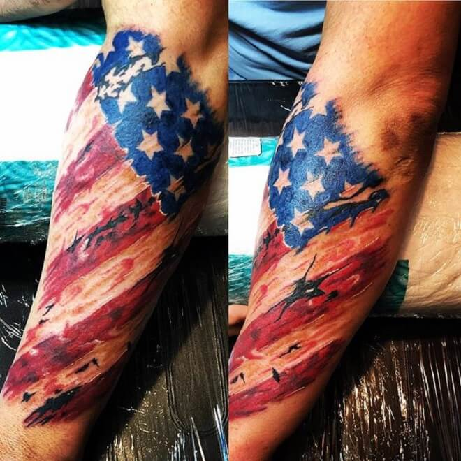 Flag Patriotic Tattoo